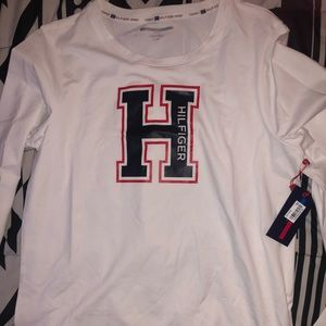 White Tommy Hilfiger Long Sleeve Tee